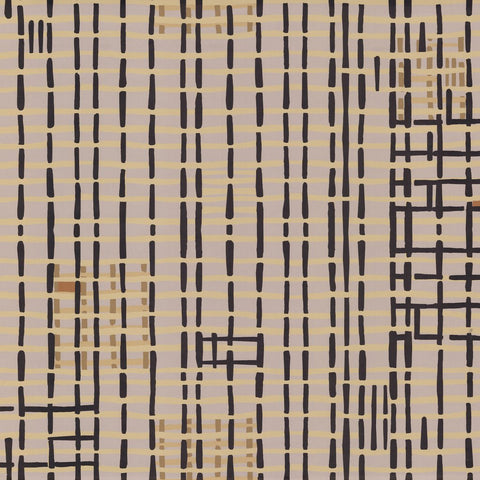 Weave Wallpaper in Grey by Hawkins New York