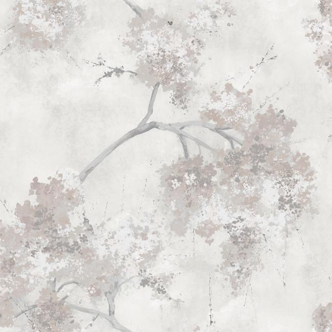 Sample Weeping Cherry Tree Peel & Stick Wallpaper in Beige and Ivory by RoomMates for York Wallcoverings