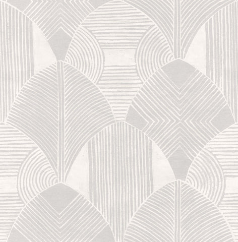 Westport Geometric Wallpaper in Dove from the Scott Living Collection by Brewster Home Fashions