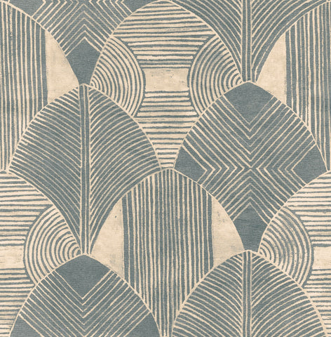 Westport Geometric Wallpaper in Teal from the Scott Living Collection by Brewster Home Fashions