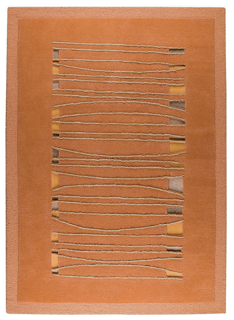 Wexford Collection Hand Tufted Wool Area Rug in Orange design by Mat the Basics
