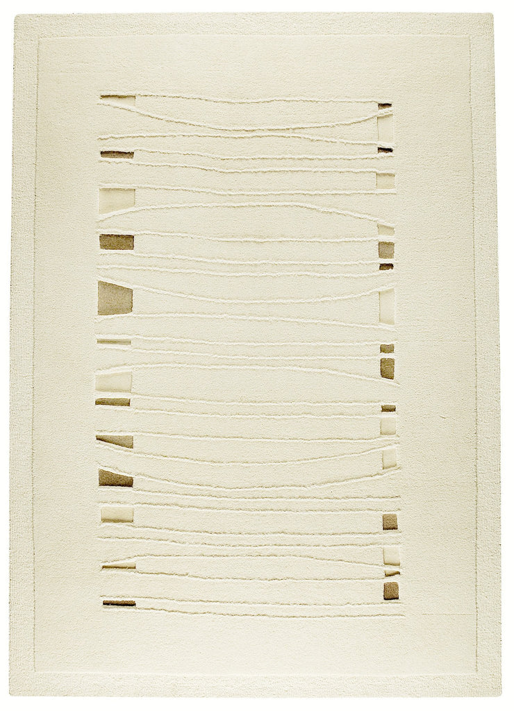 Wexford Collection Hand Tufted Wool Area Rug in White design by Mat the Basics