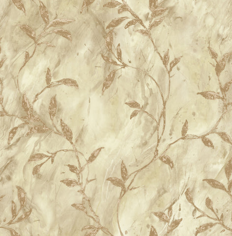 Wheatstone Wallpaper in Brown and Off-White from the Metalworks Collection by Seabrook Wallcoverings