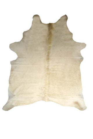 White Cowhide Rug design by BD Hides