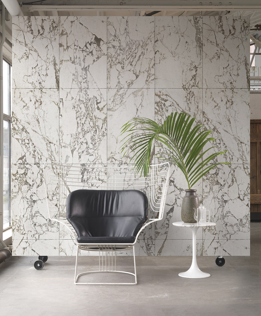 White Marble Wallpaper design by Piet Hein Eek for NLXL Wallpaper