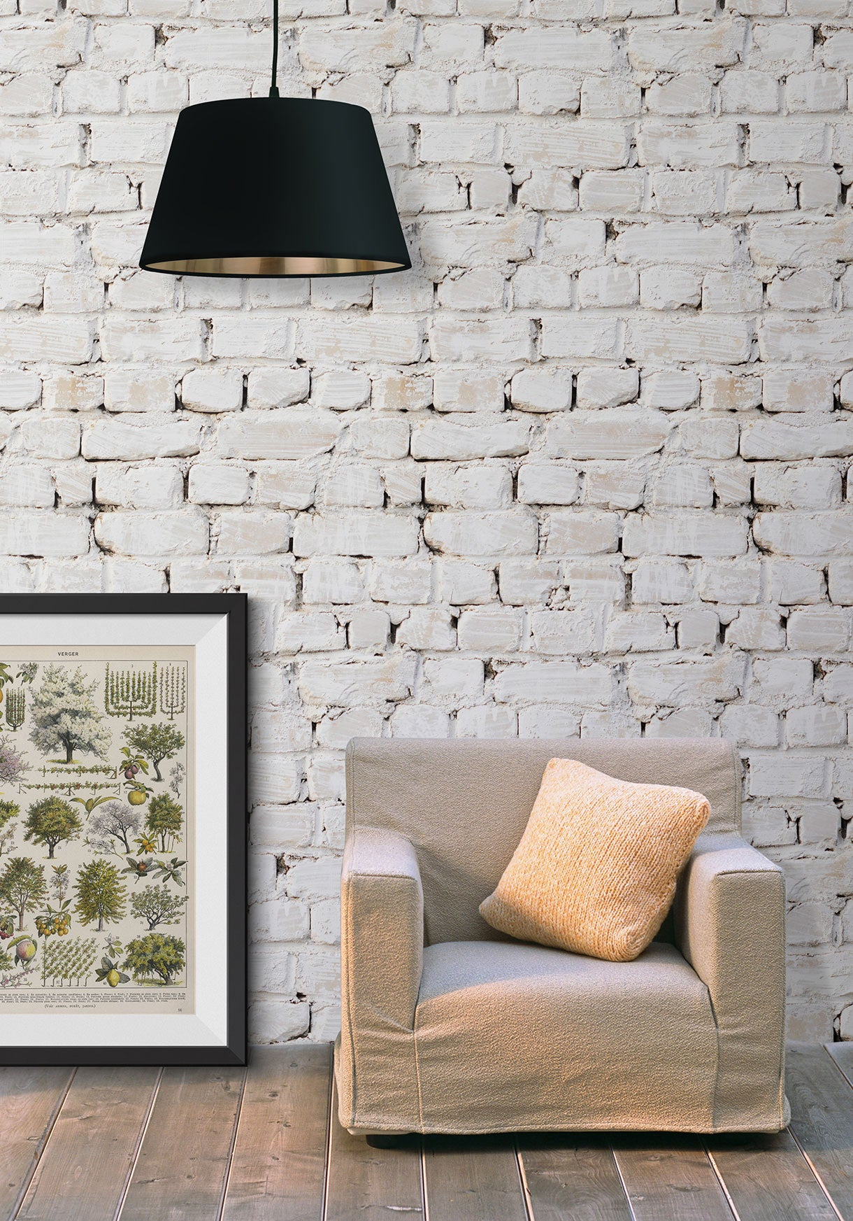 Whitewash Bricks Boutique Faux Wallpaper Design By Milton King