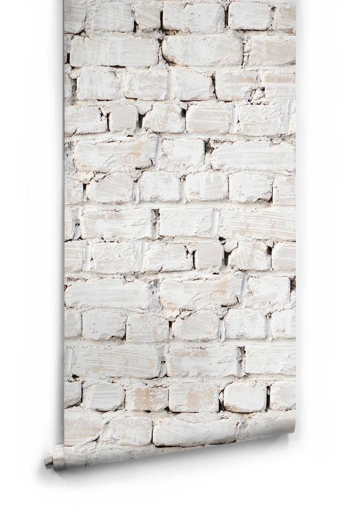 Sample Whitewash Bricks Boutique Faux Wallpaper design by Milton & King