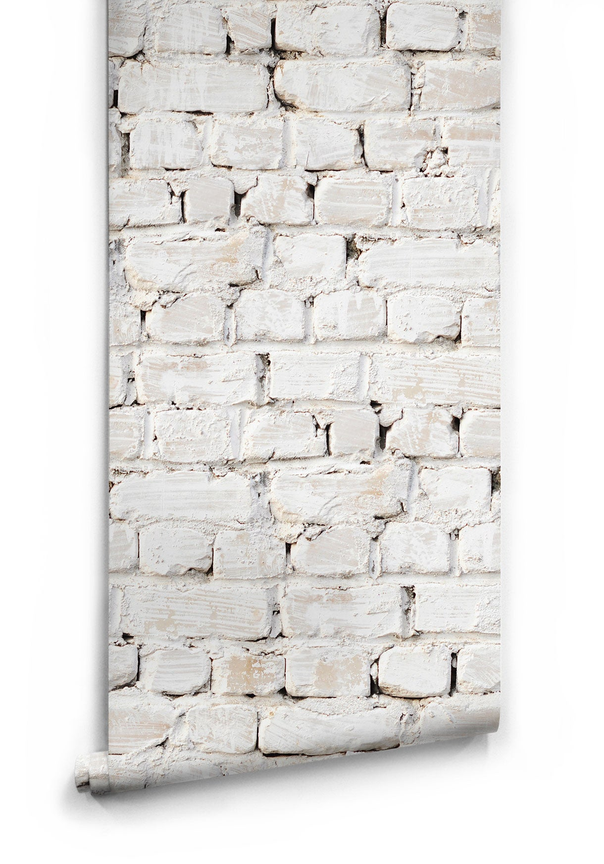 Sample Whitewash Bricks Boutique Faux Wallpaper Design By