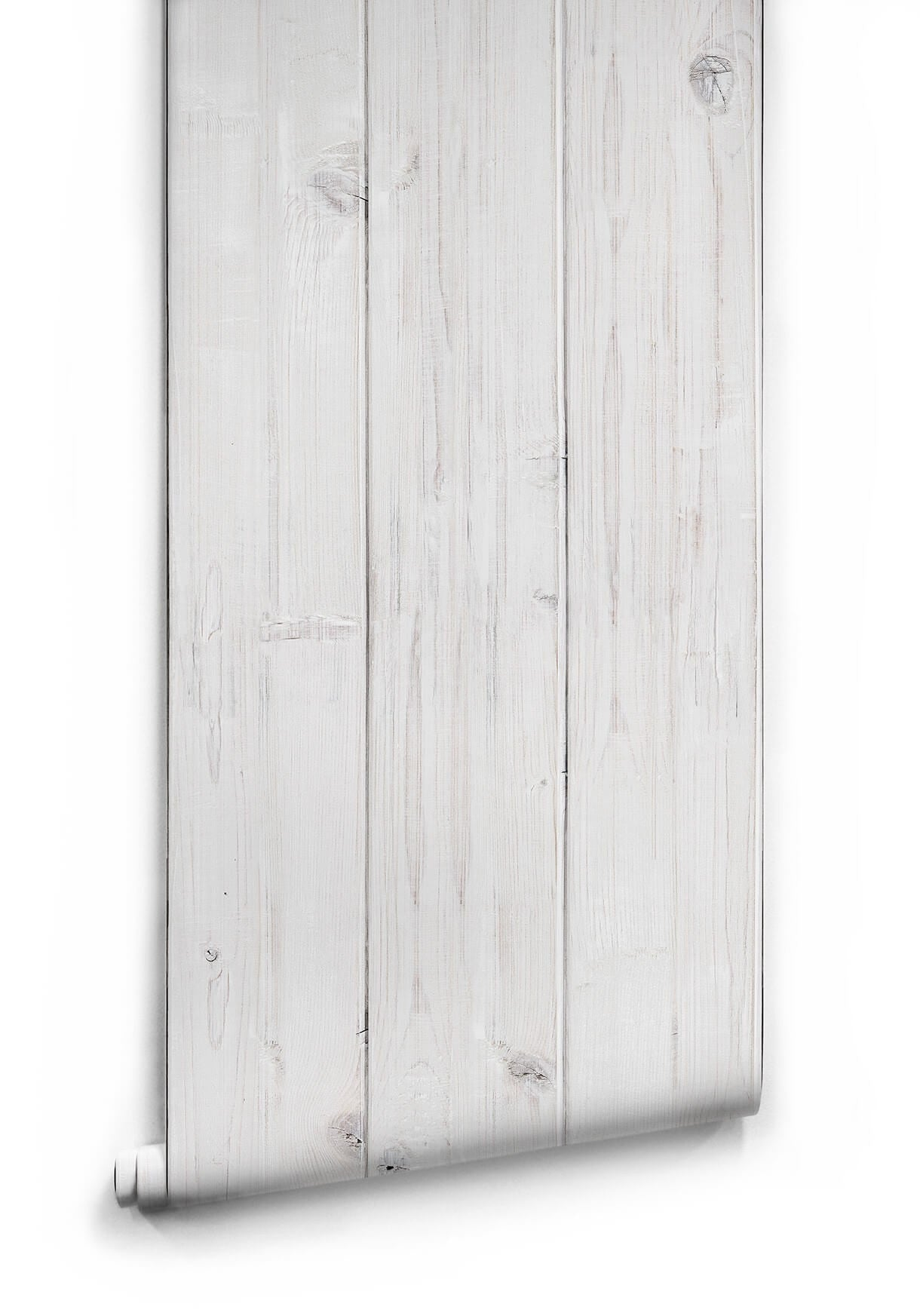 Whitewashed Timber Wallpaper from the Kemra Collection design by Milton & King