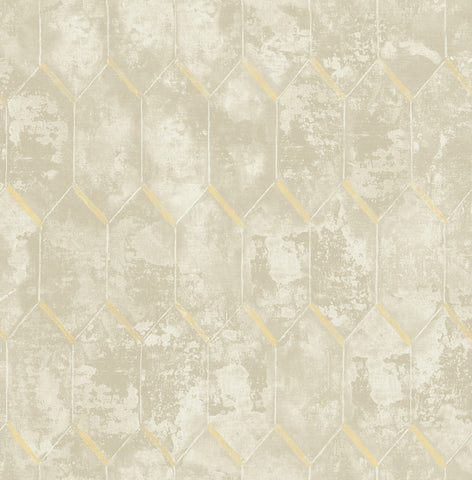 Whitney Wallpaper in Neutrals from the Metalworks Collection by Seabrook Wallcoverings