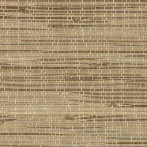 Wide Knotted Grass Wallpaper in Brown and Neutrals from the Grasscloth II Collection by York Wallcoverings