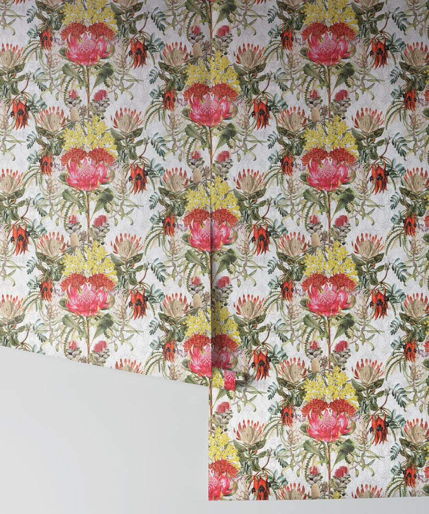 Wild Flowers Wallpaper in Original by Simcox Designs for Milton & King