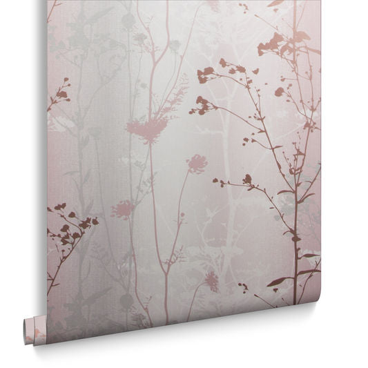 Wild Flower Wallpaper in Blush from the Exclusives Collection by Graham & Brown