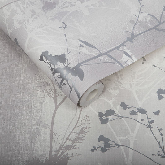 Sample Wild Flower Wallpaper in Shadow from the Exclusives Collection by Graham & Brown