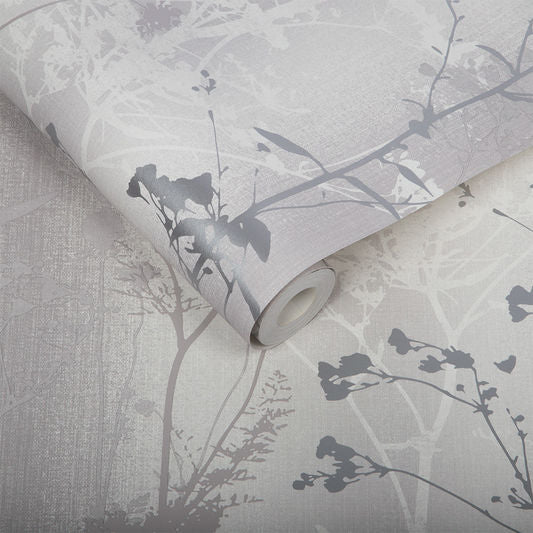 Wild Flower Wallpaper in Shadow from the Exclusives Collection by Graham & Brown