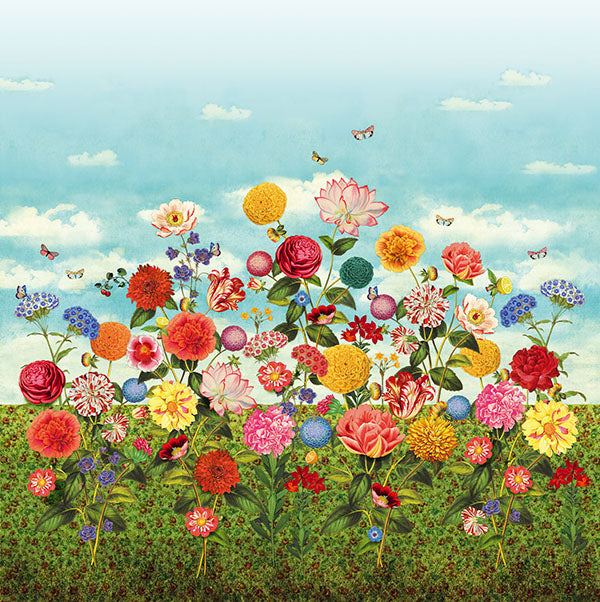 Wild Flowerland Wall Mural by Eijffinger for Brewster Home Fashions