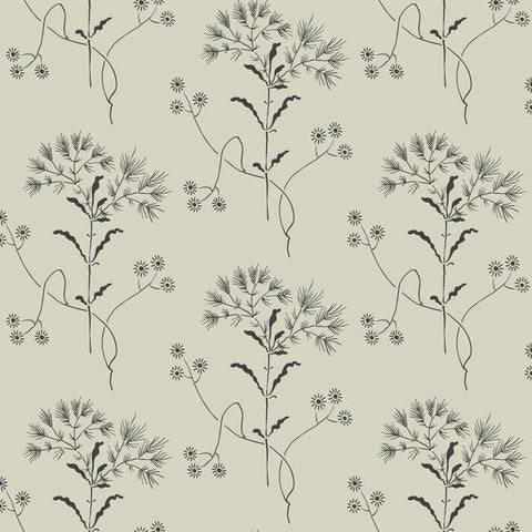 Wildflower Wallpaper in Beige from Magnolia Home Vol. 2 by Joanna Gaines