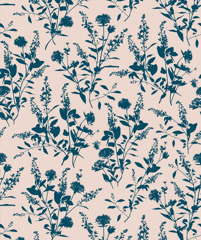 Wildflower Wallpaper in Ella from the Wallpaper Republic Collection by Milton & King