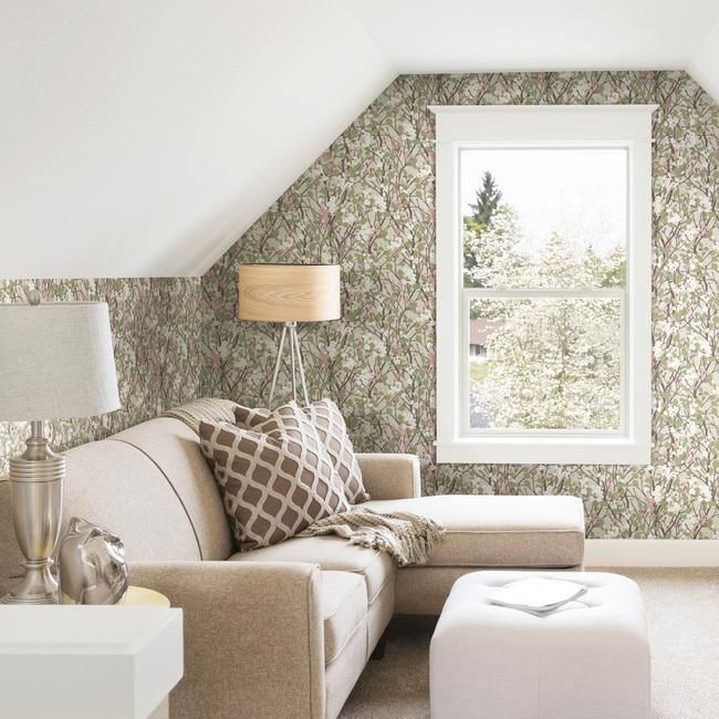 Willow Branch Peel & Stick Wallpaper in Beige by RoomMates for York Wallcoverings
