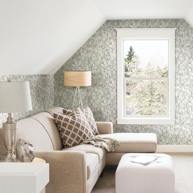 Willow Branch Peel & Stick Wallpaper in Off-White by RoomMates for York Wallcoverings