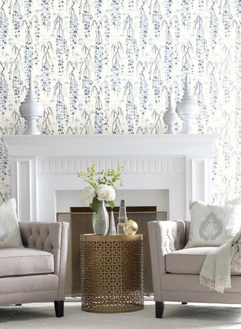 Willow Branches Wallpaper from the Tea Garden Collection by Ronald Redding for York Wallcoverings