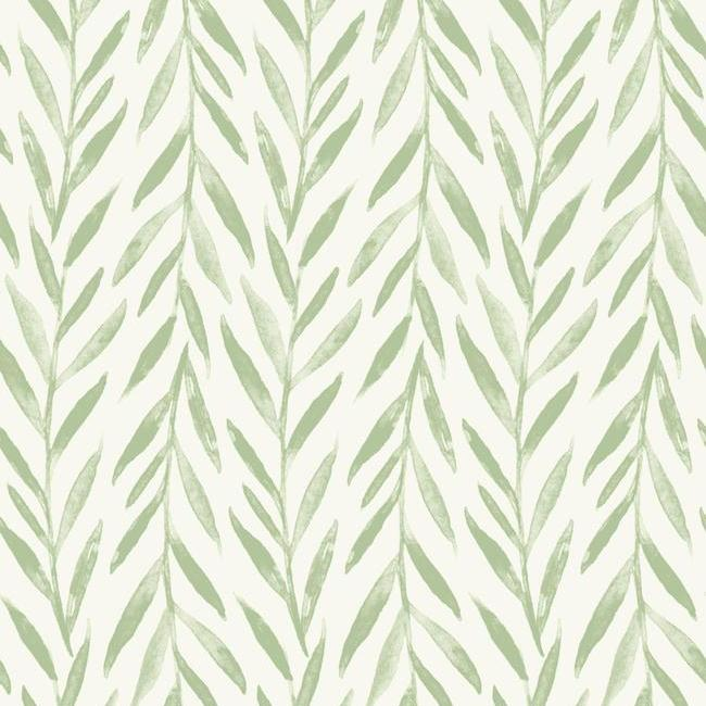 Sample Willow Peel & Stick Wallpaper in Green by Joanna Gaines for York Wallcoverings