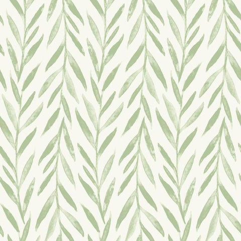 Willow Peel & Stick Wallpaper in Green by Joanna Gaines for York Wallcoverings