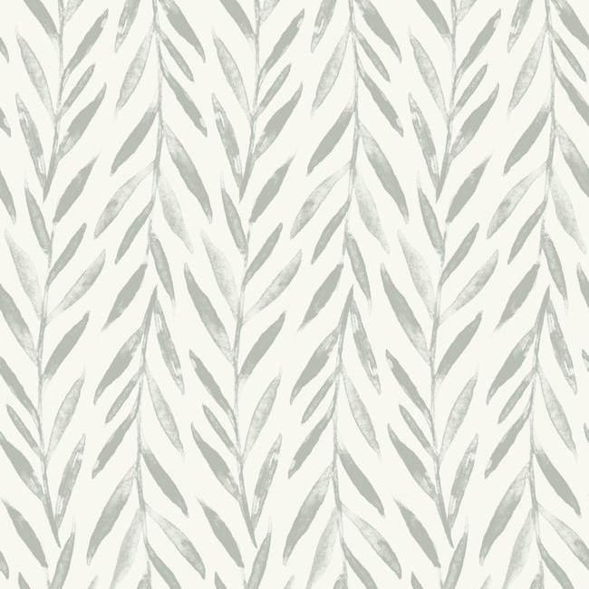 Sample Willow Peel & Stick Wallpaper in Grey by Joanna Gaines for York Wallcoverings