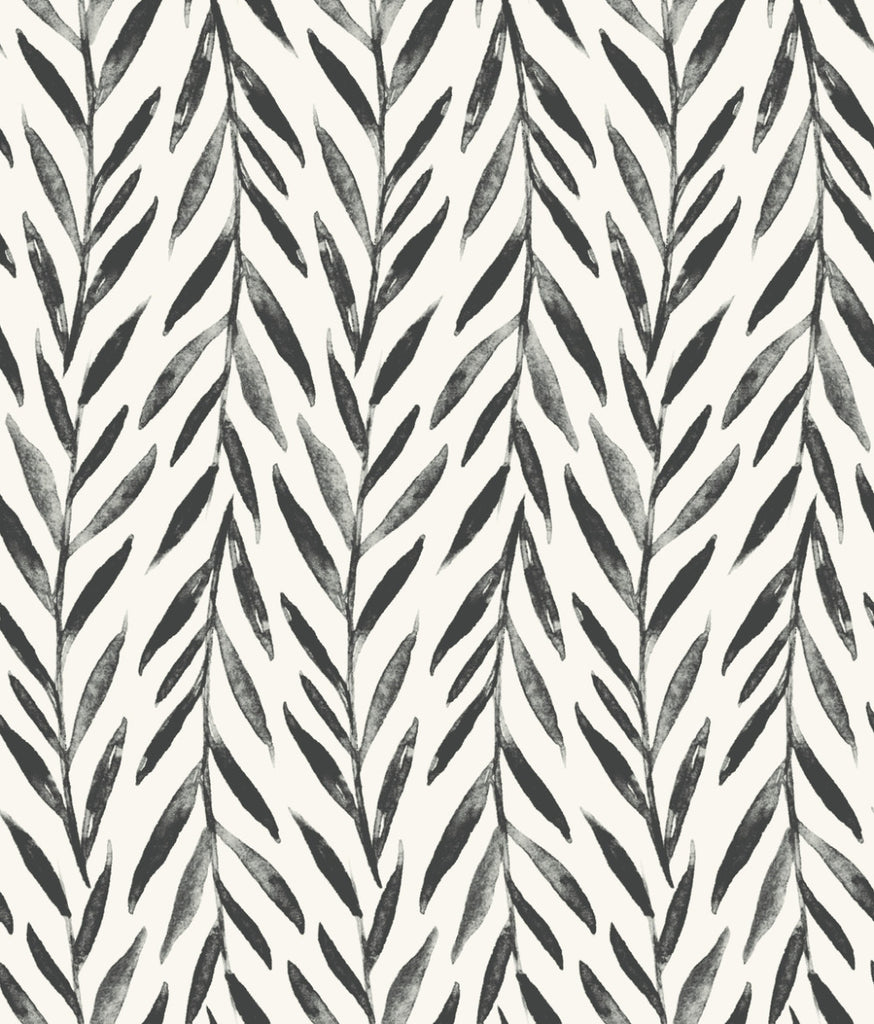 Willow Wallpaper in Black from the Magnolia Home Vol. 3 Collection by Joanna Gaines