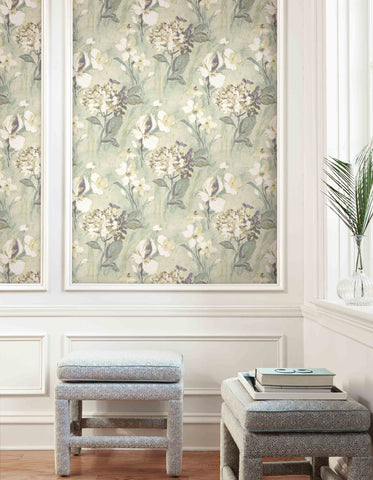 Windblown Florals Wallpaper from the Nouveau Collection by Wallquest