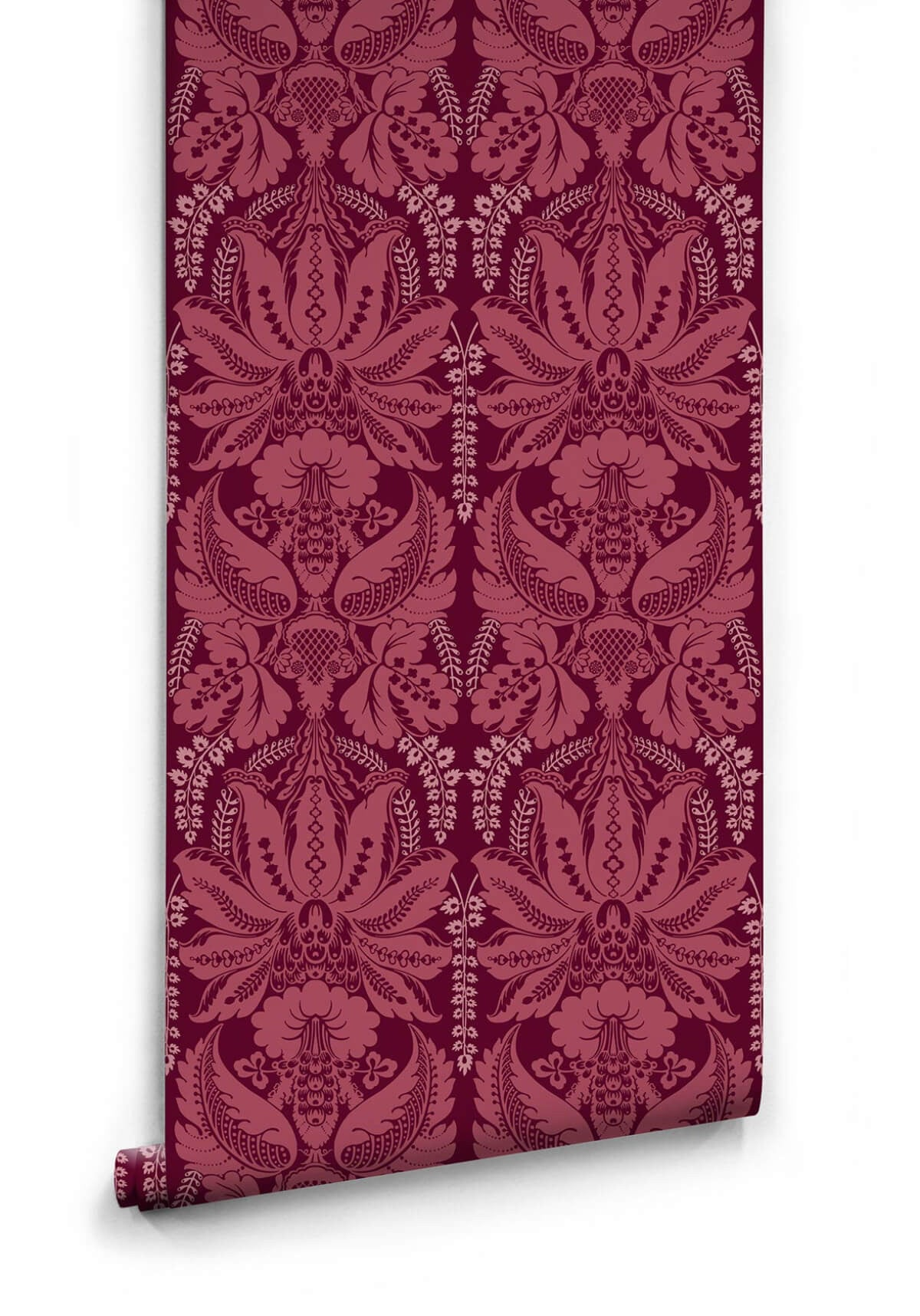 Windsor wallpaper in crimson from the kingdom home for Home wallpaper collection