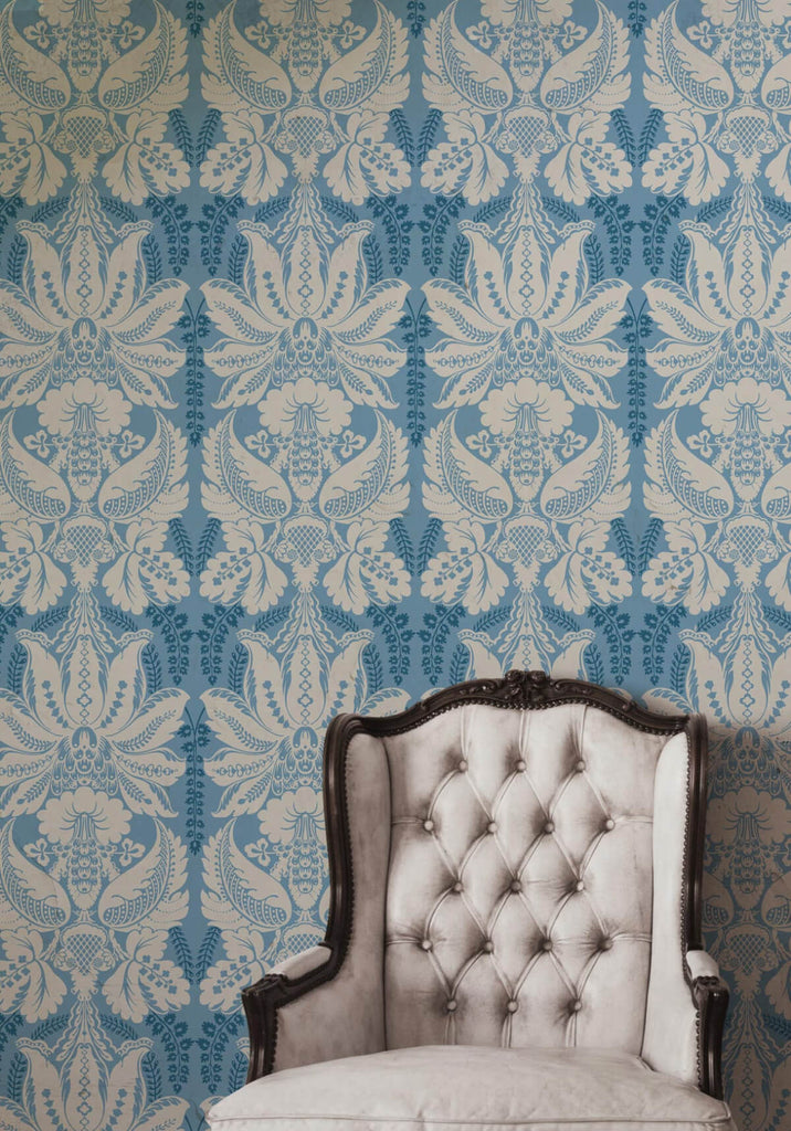 Windsor wallpaper in wedgewood from the kingdom home for Home wallpaper collection