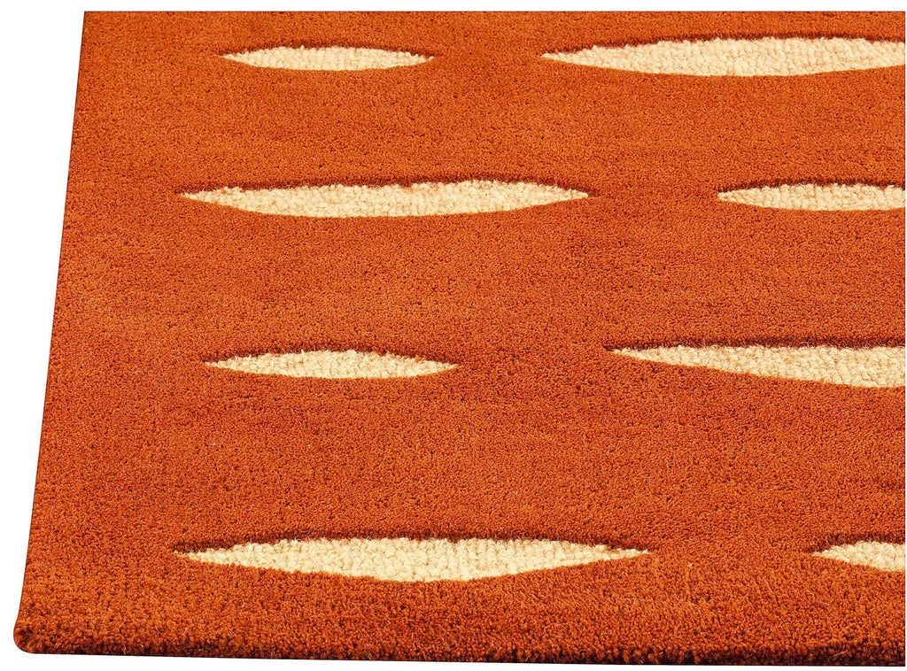 Wink Collection Hand Tufted Wool Area Rug in Orange design by Mat the Basics