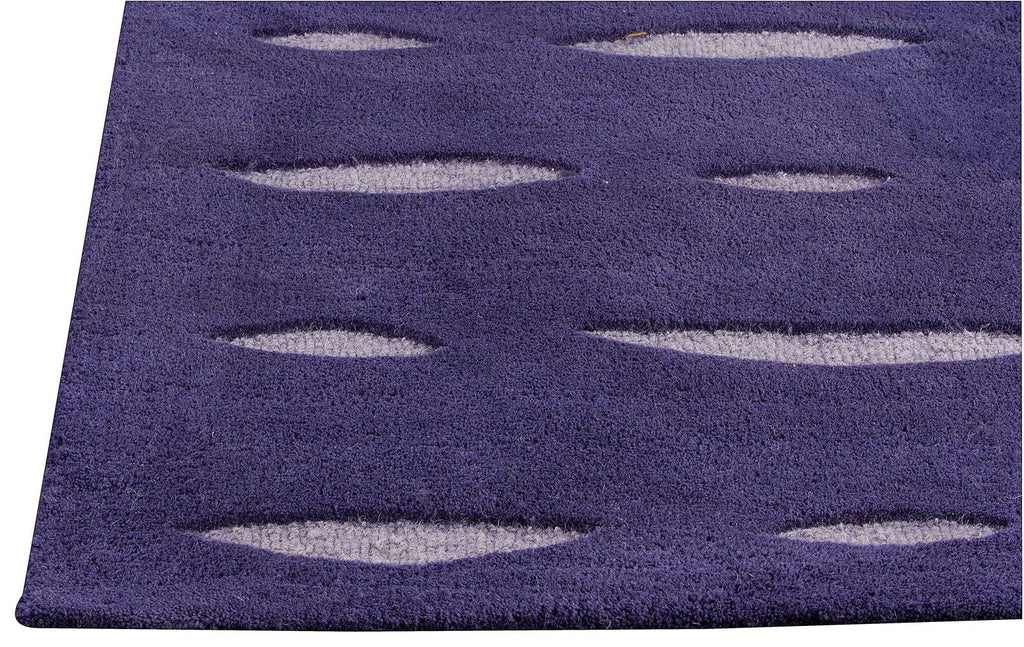 Wink Collection Hand Tufted Wool Area Rug in Purple design by Mat the Basics