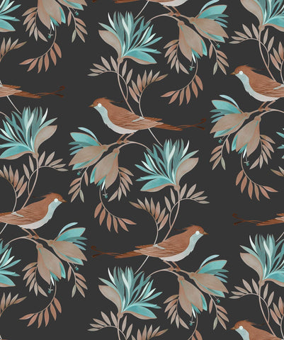 Winsome Wallpaper in Riviera Eden from the Wallpaper Republic Collection by Milton & King