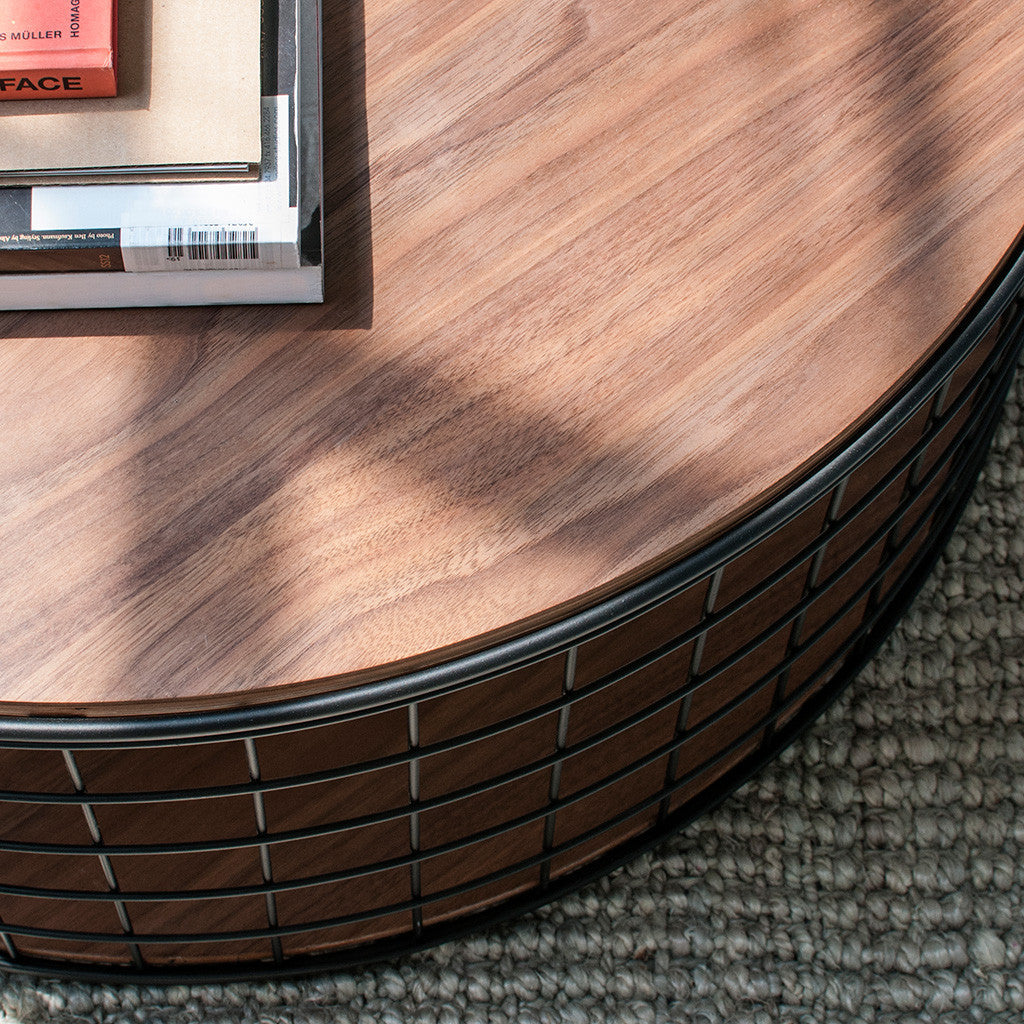 Wireframe Coffee Table in Walnut design by Gus Modern