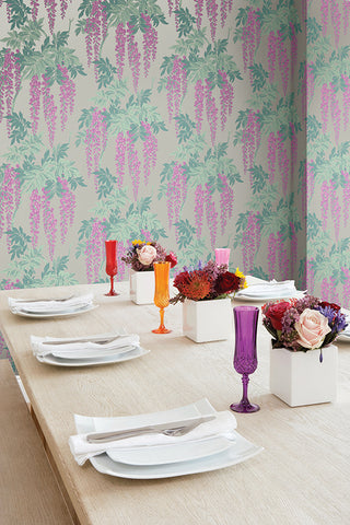 Wisteria Wallpaper from the Watercolor Florals Collection by Mayflower Wallpaper