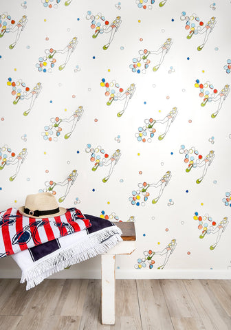 With Fins Wallpaper from the Tastemakers Collection design by Milton & King