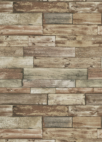 Wood Wallpaper in Brown design by BD Wall
