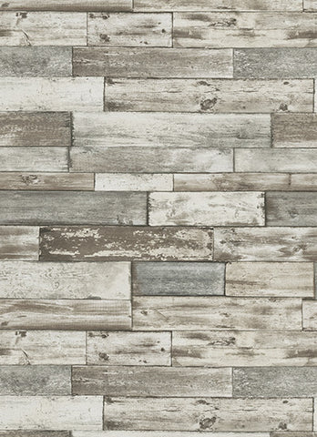 Wood Wallpaper In Grey And Brown Design By BD Wall ...