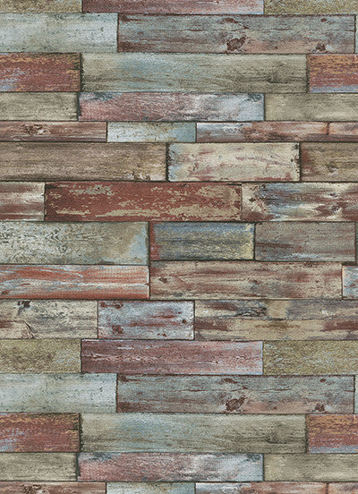 Sample Wood Wallpaper in Multi design by BD Wall