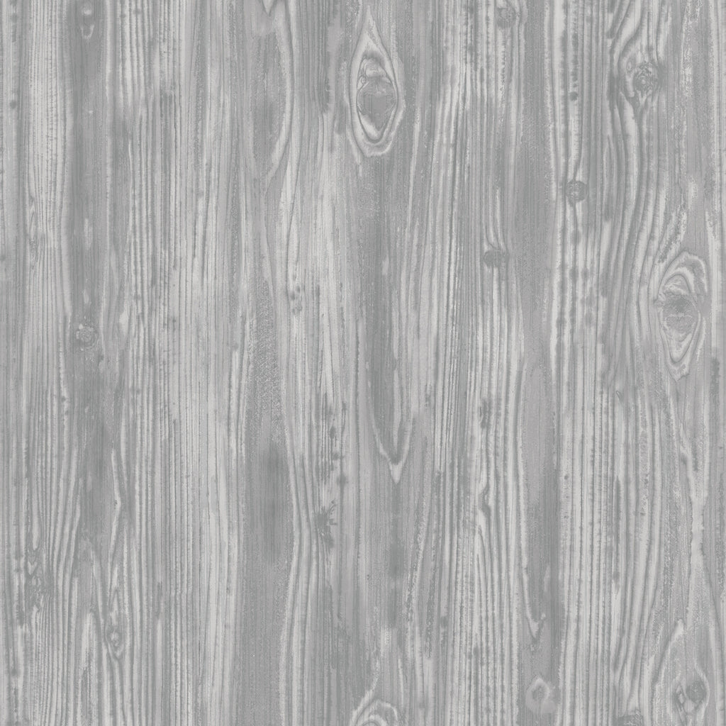 Sample Woodgrain Textured Self Adhesive Wallpaper in Pewter design by Tempaper