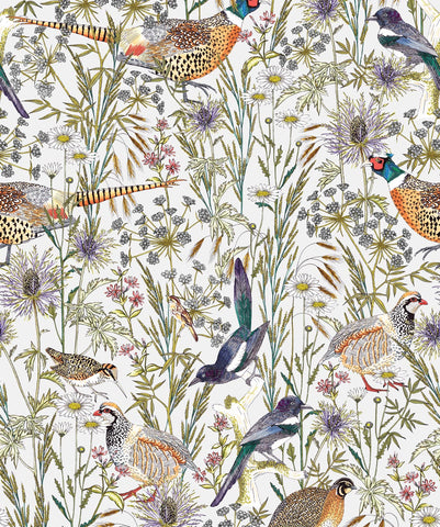 Woodland Birds Wallpaper from the Wallpaper Republic Collection by Milton & King