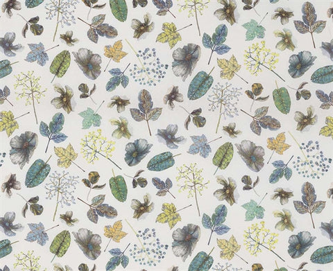 Woodland Fabric in Forest and Mint from the Enchanted Gardens Collection by Osborne & Little