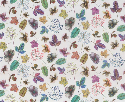 Woodland Fabric in Purples and Green from the Enchanted Gardens Collection by Osborne & Little