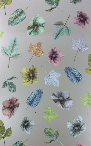 Woodland Wallpaper in Mint/Blue from the Enchanted Gardens Collection by Osborne & Little