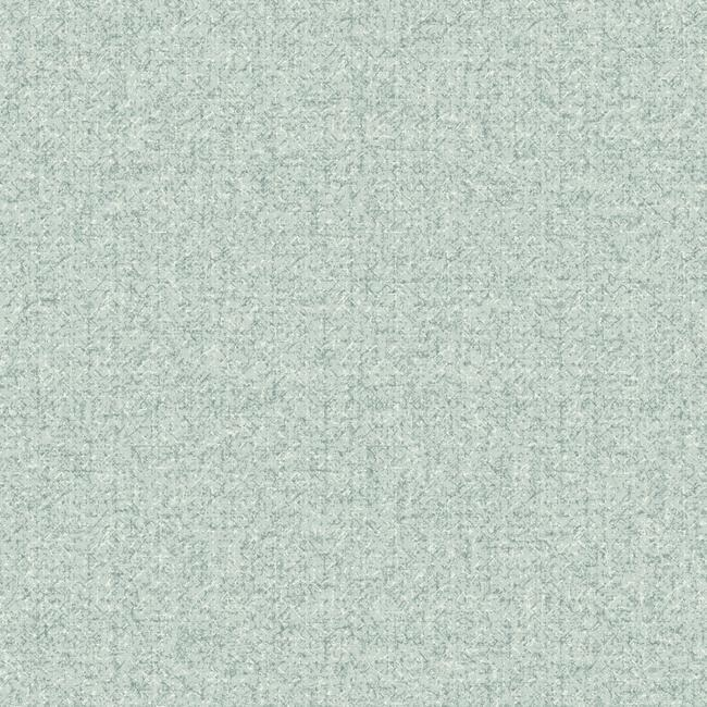 Woolen Weave Wallpaper in Soft Blue and Ivory from the Norlander Collection by York Wallcoverings