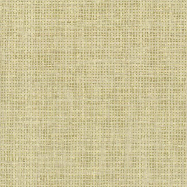 Woven Crosshatch Wallpaper in Beige and Gold from the Grasscloth II Collection by York Wallcoverings