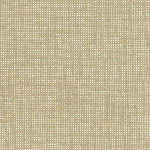 Woven Crosshatch Wallpaper in Beige and Silver from the Grasscloth II Collection by York Wallcoverings