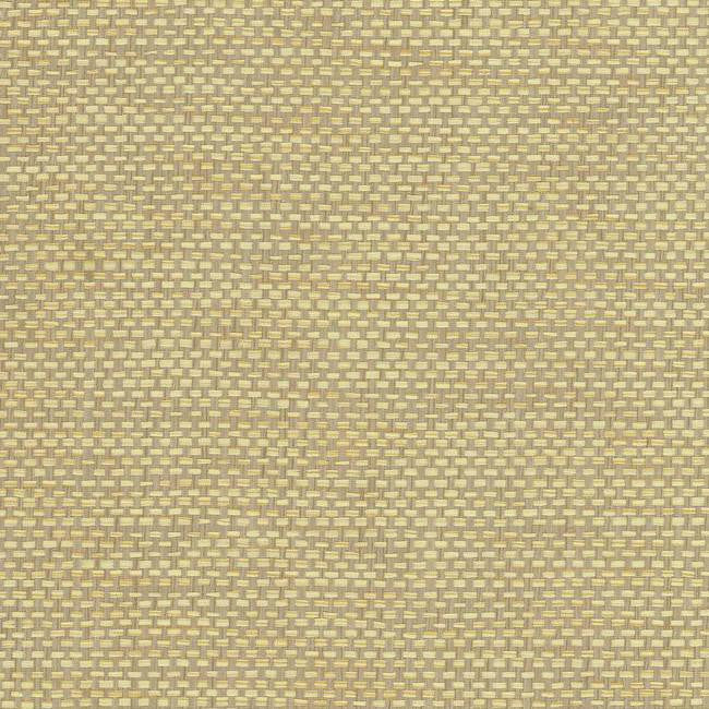 Woven Crosshatch Wallpaper in Cream and Grey from the Grasscloth II Collection by York Wallcoverings